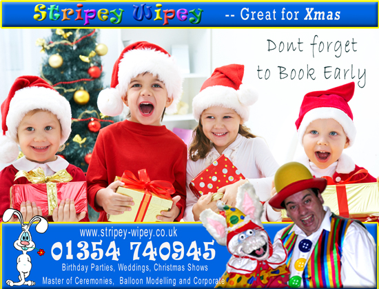 Stripey Wipey is a Professional Reliable full time children's entertainer