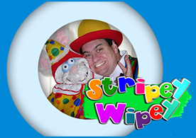 Children's Entertainer Stripey Wipey Logo